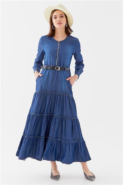 10220006-16 فستان-أزرق