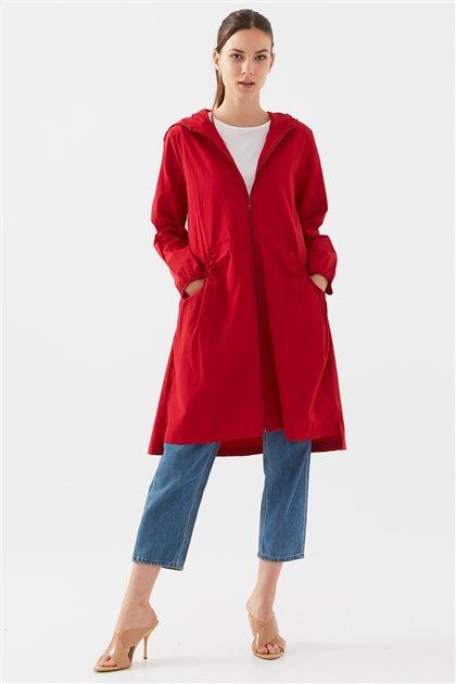 119402-34 معاطف ترينش-أحمر