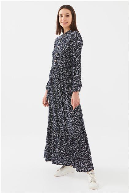 1017004-17 فستان-كحلي