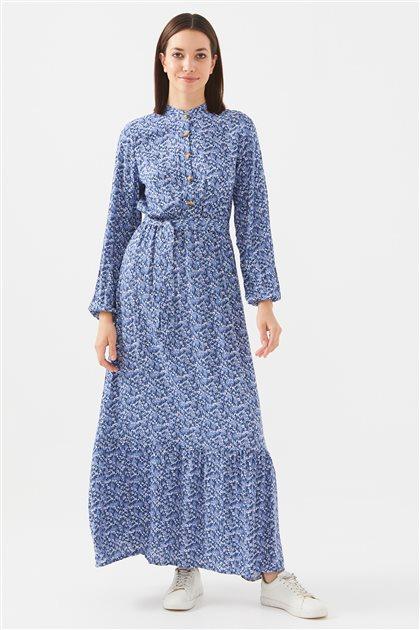 1017004-83 فستان-نيلي