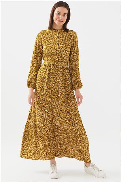 1017004-55 فستان-خردل