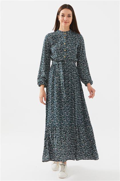 1017004-62 فستان-زمردي