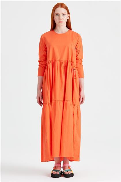 Bağcıklı Poplin Elbise ORANJ ELB.1293.01