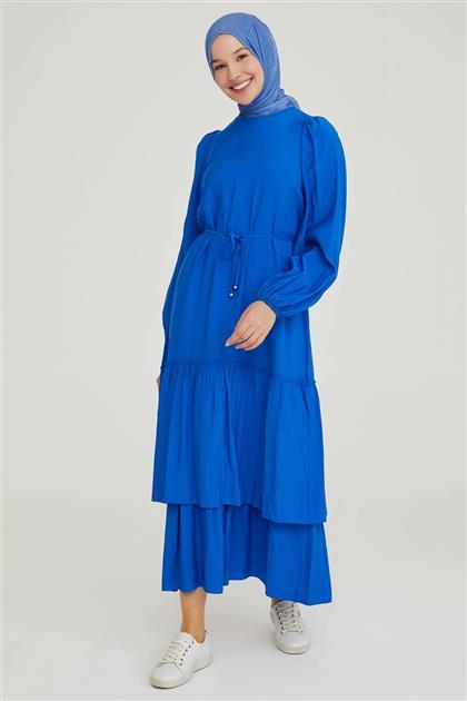 Armine Etek ucu Katlı Elbise 21Y9257 Saks