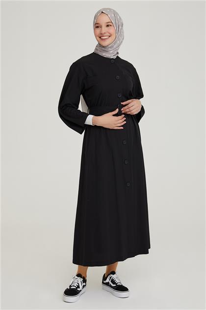 Armine Cepli Önü Düğmeli Elbise 21Y9253 Siyah