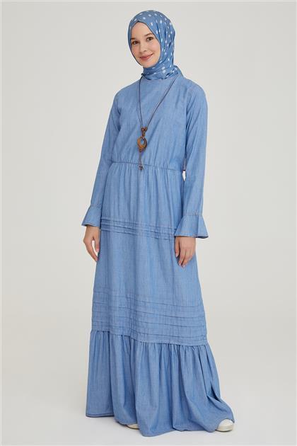 Armine Elbise 21YD3322 Mavi