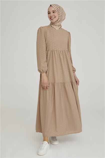 Armine Elbise 21YD2303 Bej