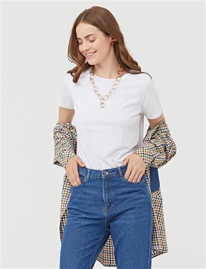 Straight Cut Jeans Lacivert B21 19120