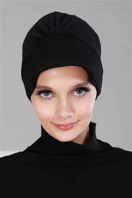 Şapkalı Penye Bone Siyah