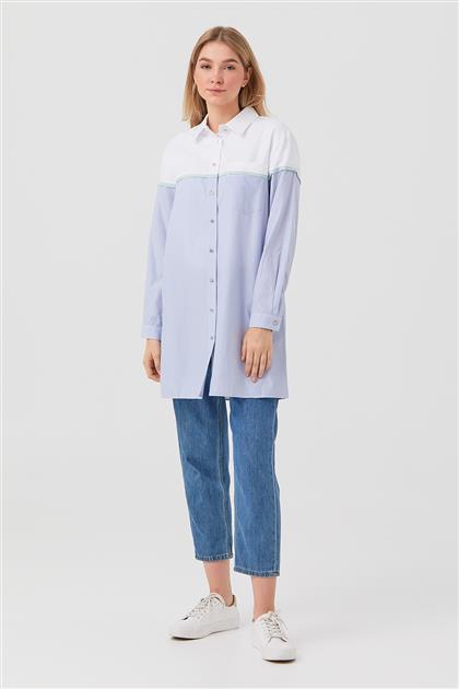 Tunik-Optik Beyaz-Mavi DO-B21-61014-02-09