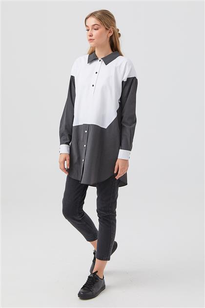 Tunik-Optik Beyaz-Siyah DO-B21-61033-02-12