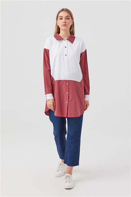 Tunic-White-Claret Red DO-B21-61033-02-26