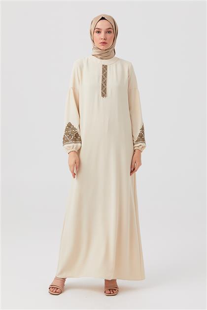 Taş Nakışlı Düz Kesim Elbise