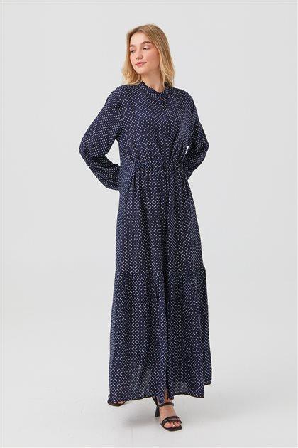 Elbise-Lacivert 1180029-17