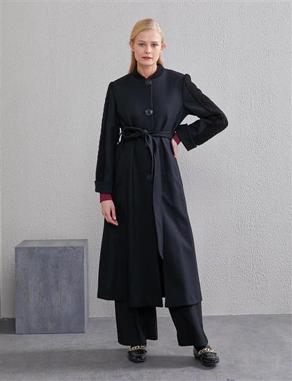 Kolları Triko Örgülü Giy-Çık Siyah A20 25001