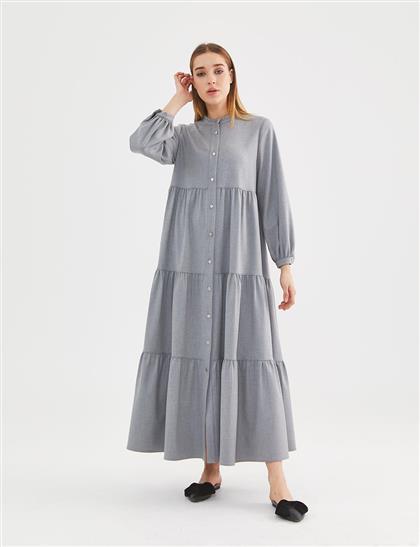 Elbise-Gri KA-A20-23167-07