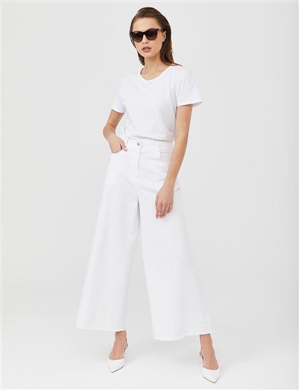 Pants-White Kayra-KA-A20-19195-02