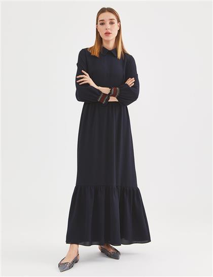 Elbise-Lacivert KY-A20-83015-11