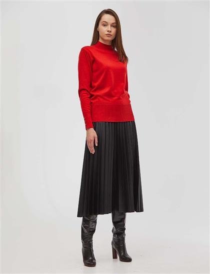 Basic Triko Bluz Kırmızı SZ TRK05