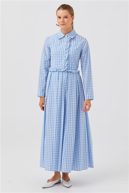 Elbise-Mavi V21YELB17018-06
