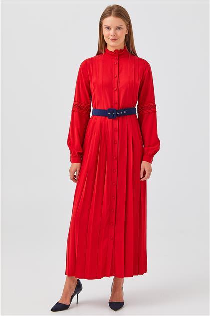 Elbise-Kırmızı V20YELB17042-11