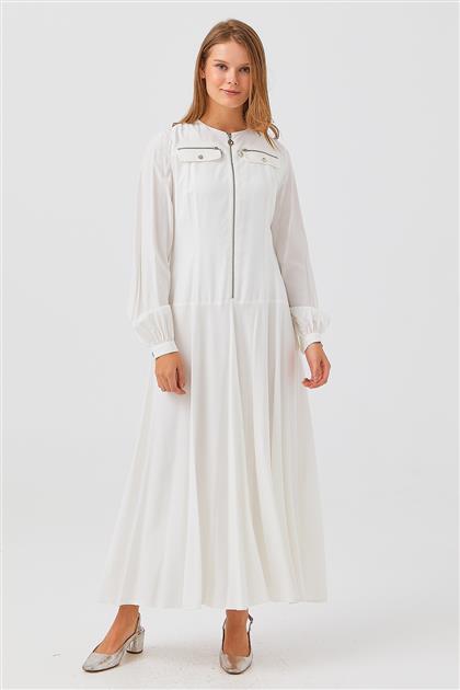 Elbise-Beyaz V21YELB17002-30