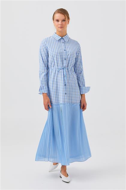 Elbise-Mavi V21YELB17036-06