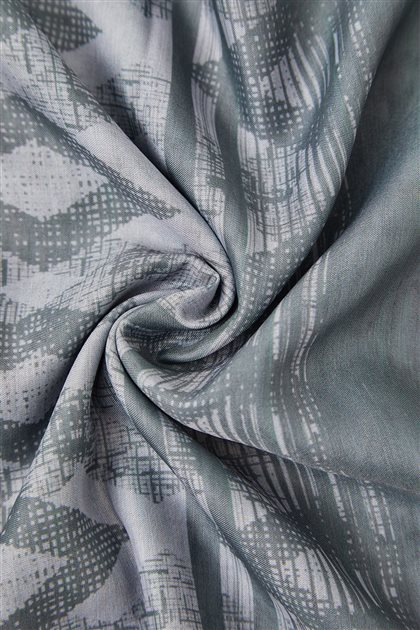 Dijital Baklava Desen Soft Şal-Antrasit SPR07-50