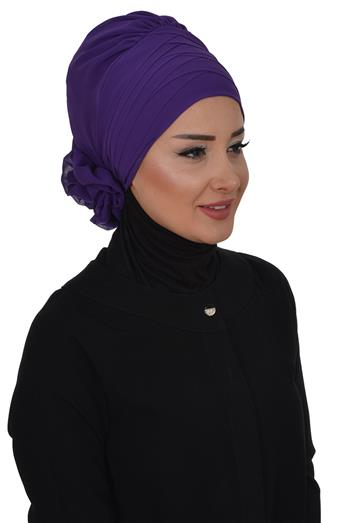 Ayşe TaYellowm Scarf-Purple Ht-0030-20