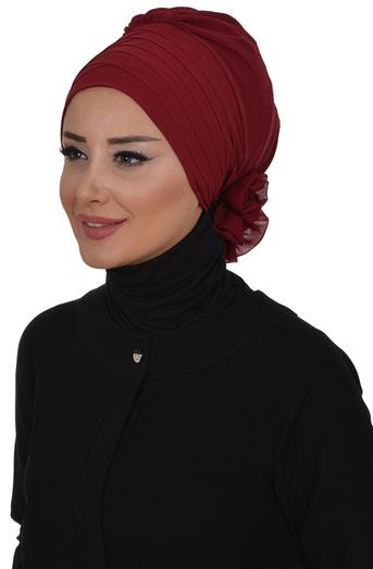 Ayşe TaYellowm Scarf-Claret Red Ht-0030-7