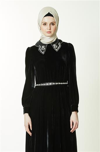 Abiye Elbise-Siyah KA-A7-23048-12
