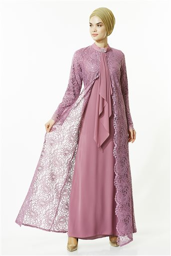 Evening Dress-Dried Rose 4001-53