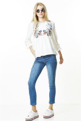 Denim Pants-Blue 8YK215-70