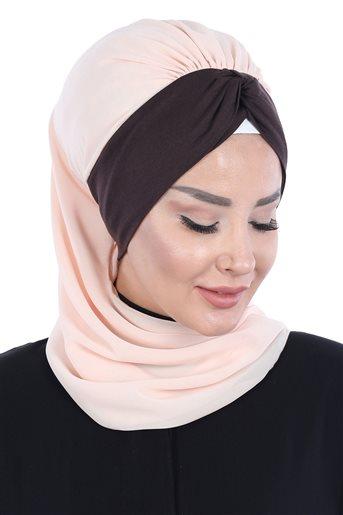 Ayşe Tasarim إيشارب-بنطلون جينز-بني HT-0055-11-5