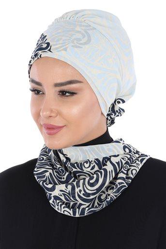 Ayşe Tasarim إيشارب-كحلي-أزرق الرّضّع HT-0064-23-27