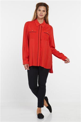 Bluz-Kırmızı-Lacivert KA-B9-10112-19-11