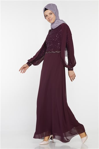 Evening Dress-Plum UN-52736-51