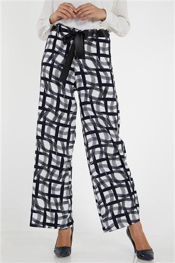 Pantolon-Lacivert Beyaz 9001-1-1702