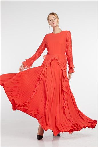 Elbise-Kırmızı KA-B9-23047-19