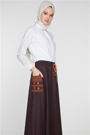 Skirt-Plum TK-Z8619-10