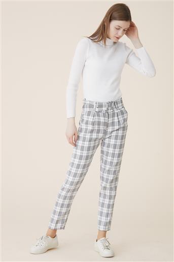 Pants-Black White 2505-0102