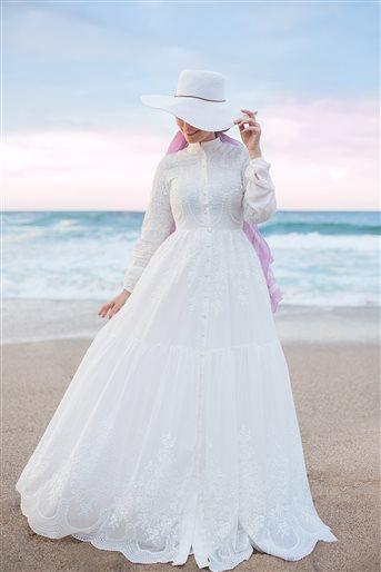 Whıte Dream Elbise-Beyaz 180124-02