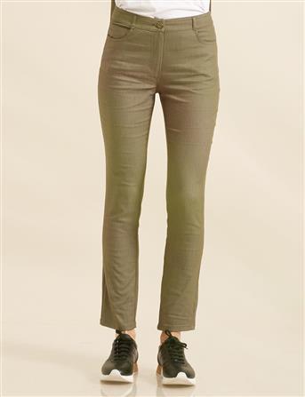 Skinny Leg Pants Khaki B8 19025