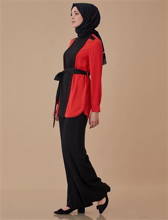 Elbise-Ceket İkili Takım Kırmızı A8 16007