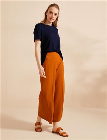 KYR Yüksek Bel Bol Paça Pantolon Orange B20 79001