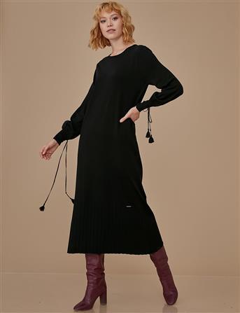 Tam Boy Triko Elbise Siyah A9 TRK18