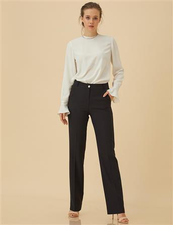 Basic Boru Paça Pantolon Siyah SZ 19502