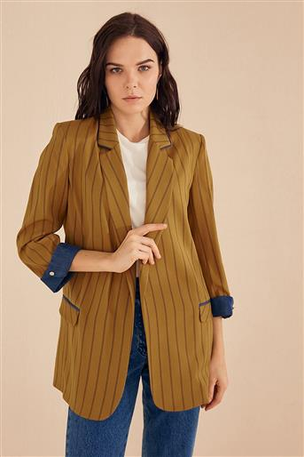 Jacket-Olive-Navy Blue KY-B20-73007-33-11