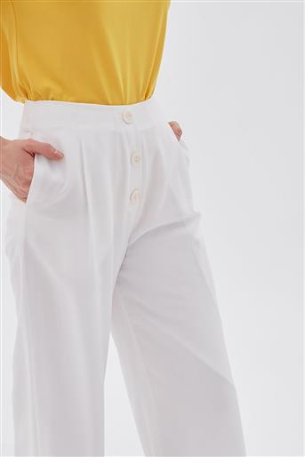 Pantolon-Optik Beyaz KA-B20-19194-02