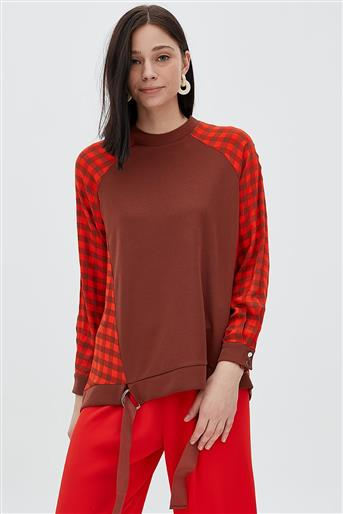 Blouse-Orange KA-B20-10022-34